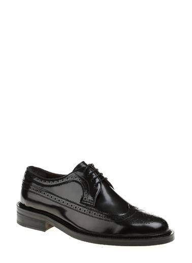George Hogg %100 Deri Bağcıklı Klasik Ayakkabı Siyah